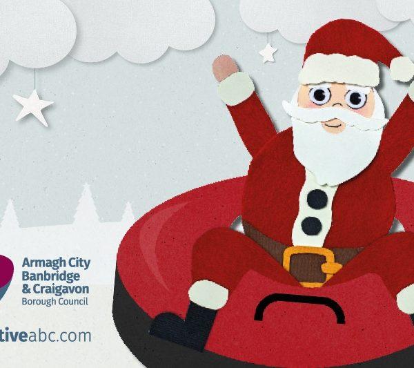 Snow Tubing with Santa