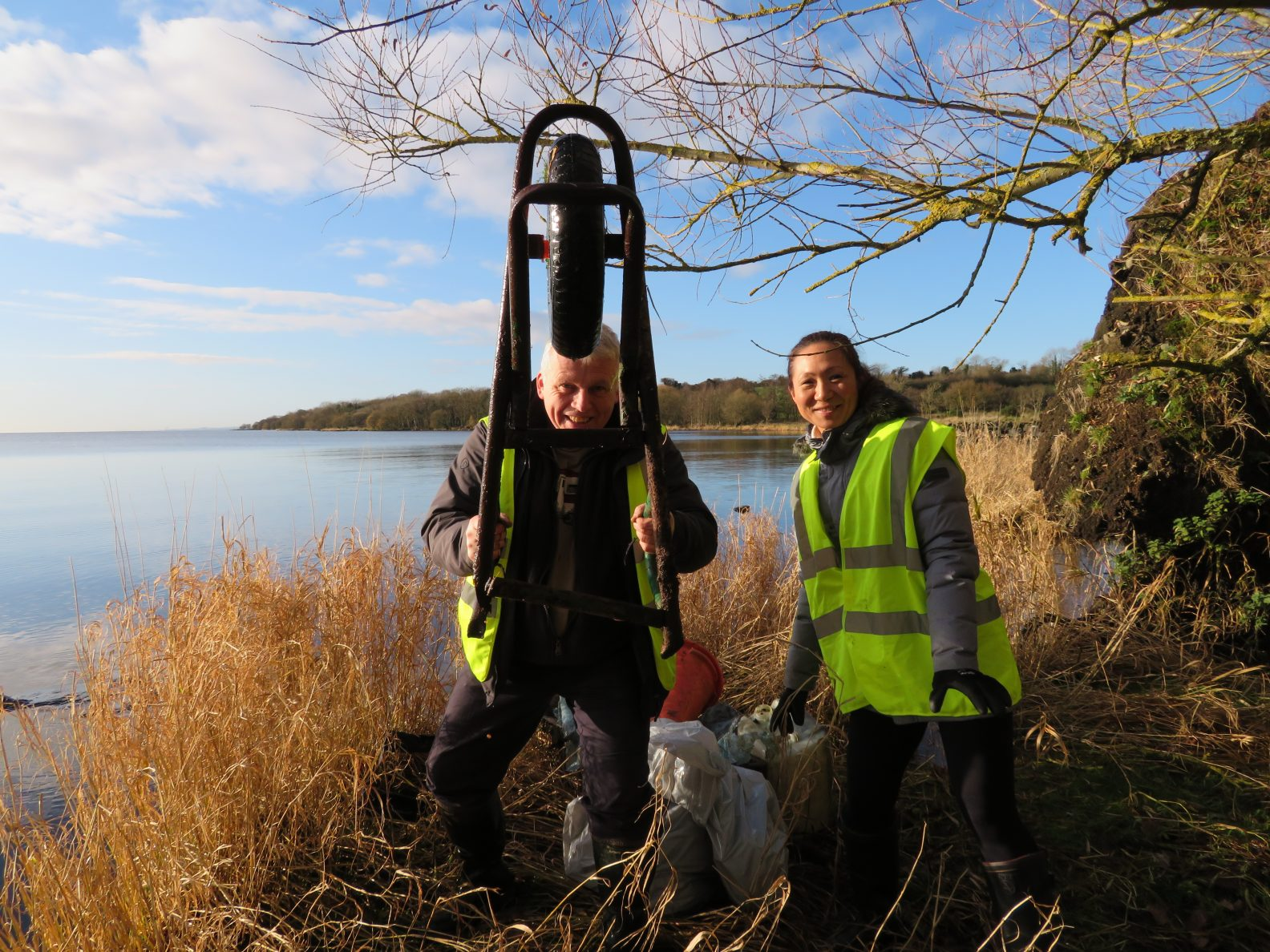 LOUGH SHORE PROBLEMS WITH PLASTIC NOT JUST AT CHRISTMAS